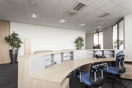 Photo for Reception desk in a modern office, interior - Royalty Free Image