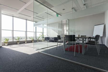 Foto de Spacious interior with a modern conference room - Imagen libre de derechos
