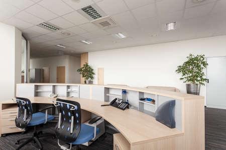Foto de Reception room of a new contemporary office - Imagen libre de derechos