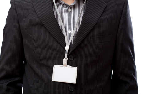 Photo for Businessman with empty id card on his neck - Royalty Free Image