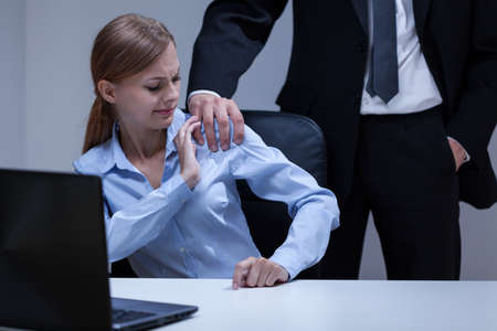 Photo for View of sexual harassment in the office - Royalty Free Image