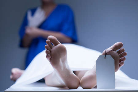 Photo for View of worker of morgue during job - Royalty Free Image