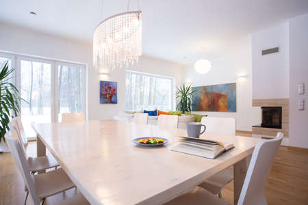 Photo for Close-up of big table in living room - Royalty Free Image