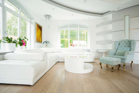 Photo for Luxury bright spacious living room - Royalty Free Image