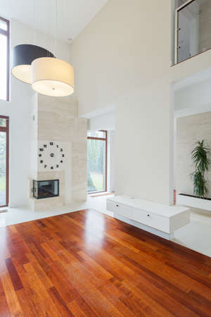 Photo for Bright unfurnished new lounge in modern residence - Royalty Free Image