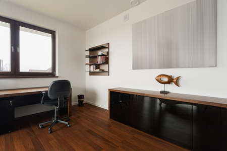 Photo for New fashionable study room with wooden floor - Royalty Free Image