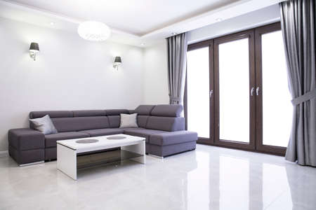 Photo for Living room with elegant sofa in modern house - Royalty Free Image