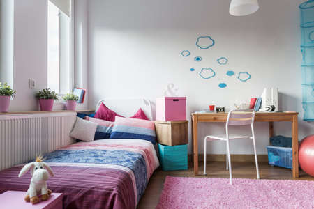 Little girl's room - modern and cozy design