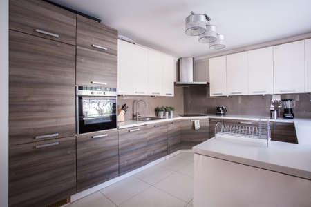 Foto für Image of large luxury kitchen furnished in modern design - Lizenzfreies Bild