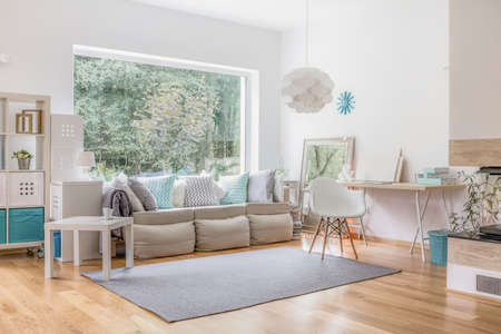 Photo for Cozy bright living room and big window - Royalty Free Image