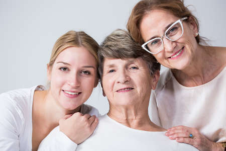 Photo for Happy multi generational family spending time together - Royalty Free Image