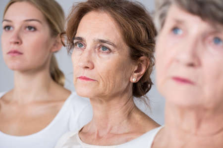 Photo for Aging process - three women in different age - Royalty Free Image