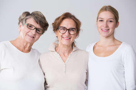 Photo pour Horizontal view of female multi generation portrait - image libre de droit
