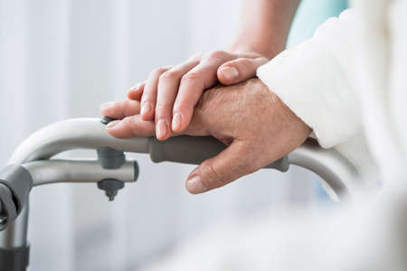 Photo pour Photo of professional healthcare and support at nursing home - image libre de droit