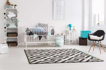 Photo pour Shot of a stylish modern baby room - image libre de droit