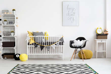 Photo pour Picture of a modern baby room designed in scandi style - image libre de droit