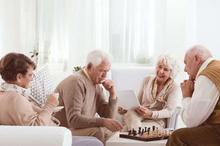 Photo for Group of senior friends spending active time together - Royalty Free Image