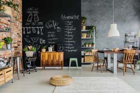 Photo pour Fresh food and herbs in the kitchen - image libre de droit