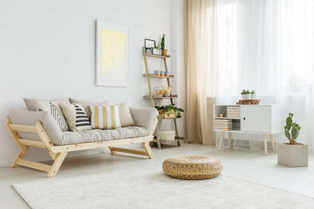 Photo for Spacious and bright living room with stylish decorations - Royalty Free Image