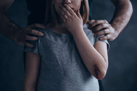 Photo pour Children abuse is a crime don't be quiet about it - image libre de droit