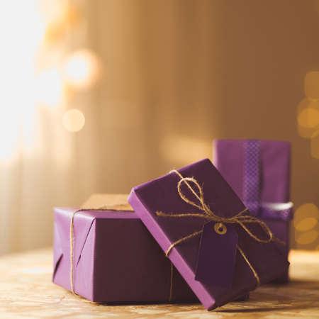 Foto de Stack of presents for Christmas or birthday - Imagen libre de derechos