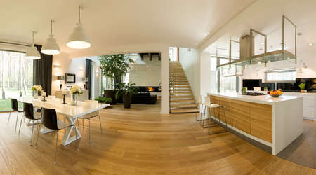 Photo for Modern spacious open plan house in loft style - Royalty Free Image