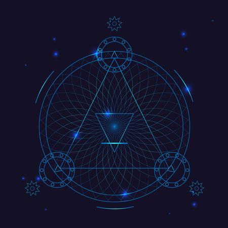 Ilustración de Alchemy Geometry Symbol Thin Line. Vector - Imagen libre de derechos