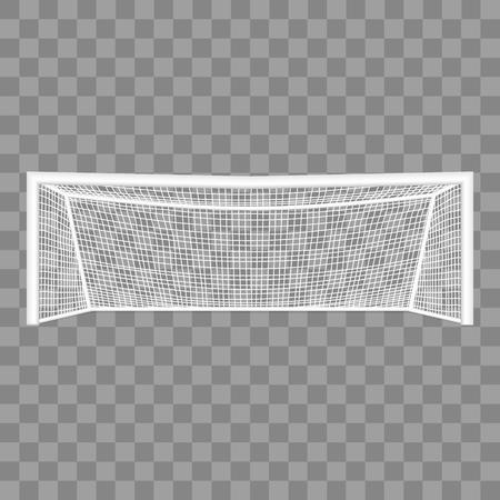 Illustration pour Realistic Detailed 3d Football Goal vector - image libre de droit