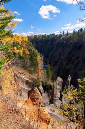 Photo pour Jinjiang grand canyon of Changbai mountain of China. - image libre de droit