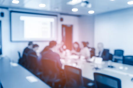 Foto per Abstract blurred of business meeting in meeting room. Business Concept. - Immagine Royalty Free
