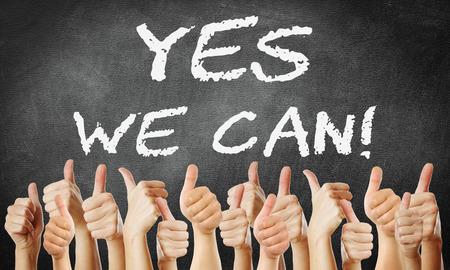 Photo pour yes we can! - image libre de droit