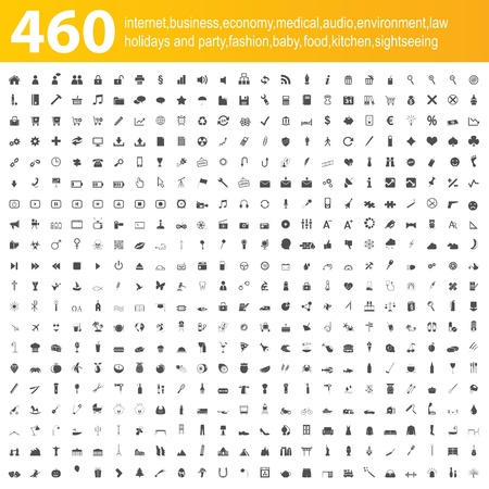 460 grey icons