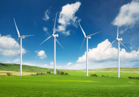 Photo for Wind power station. Ecological energy composition - Royalty Free Image