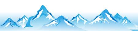 Illustration pour Winter mountains Vector - image libre de droit