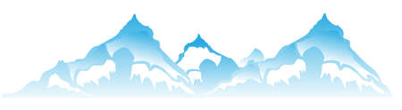 Illustration pour Mountain  - image libre de droit