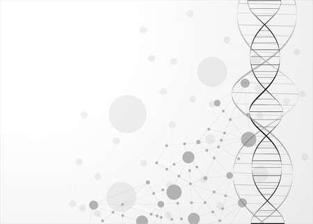 Illustration pour eps10, dna molecule, abstract background  - image libre de droit
