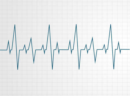 Illustration pour Abstract heart beats cardiogram illustration - vector  - image libre de droit