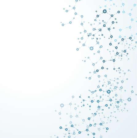 Illustration pour  dna molecule, abstract background  - image libre de droit