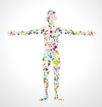 Ilustración de model of man of DNA molecule. Eps 10 - Imagen libre de derechos