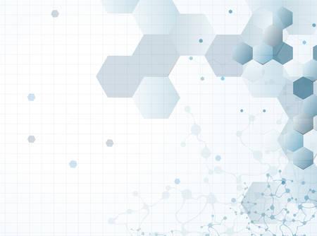 Illustration pour molecular structure abstract background - image libre de droit