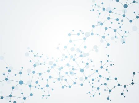 Illustration pour Molecules Concept of neurons and nervous system vector - image libre de droit