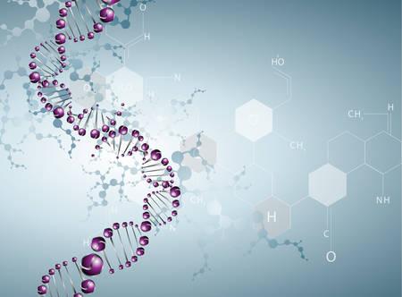 Illustration pour DNA molecule structure background. eps10 - image libre de droit