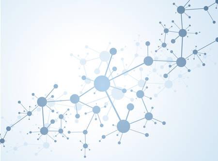 Illustration pour Molecule structure vector illustration background - image libre de droit
