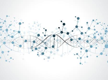 Illustration pour DNA molecule structure background. eps10 vector illustration - image libre de droit