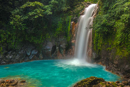 Photo for Rio Celeste Waterfall photographed in Costa Rica. - Royalty Free Image