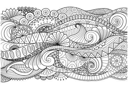 Illustration for Boho pattern for background, decorations,banner,coloring book,cards and so on - Royalty Free Image