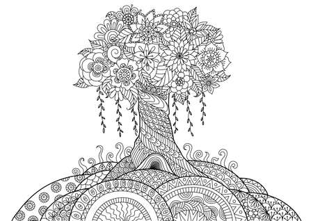 Illustration for Whimsical tree - Royalty Free Image