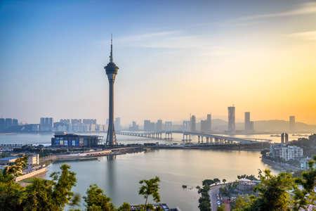 Foto de The Macao skyline at dusk - Imagen libre de derechos