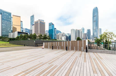 Photo for Urban buildings and squares in Hongkong - Royalty Free Image
