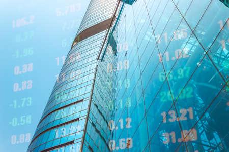 Photo pour Modern financial architecture and financial digital market - image libre de droit